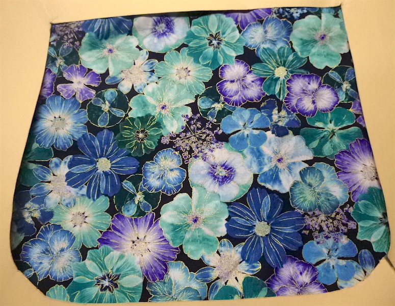 Floral Impressions in Blue Pick your Size Morphin Messenger Bag Flap