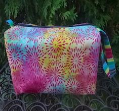 Flower burst batik Accessory Bag, The Lily