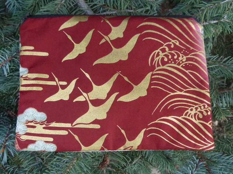 Golden Cranes zippered bag, The Scooter