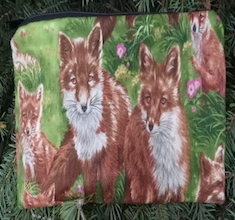 """Foxes pouch for 8"""" Knitting Needles, The Deep Sleek"""