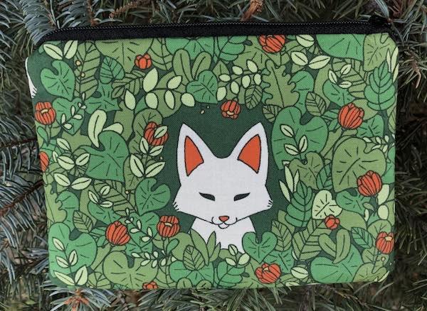 Foxy Goldie zippered bag