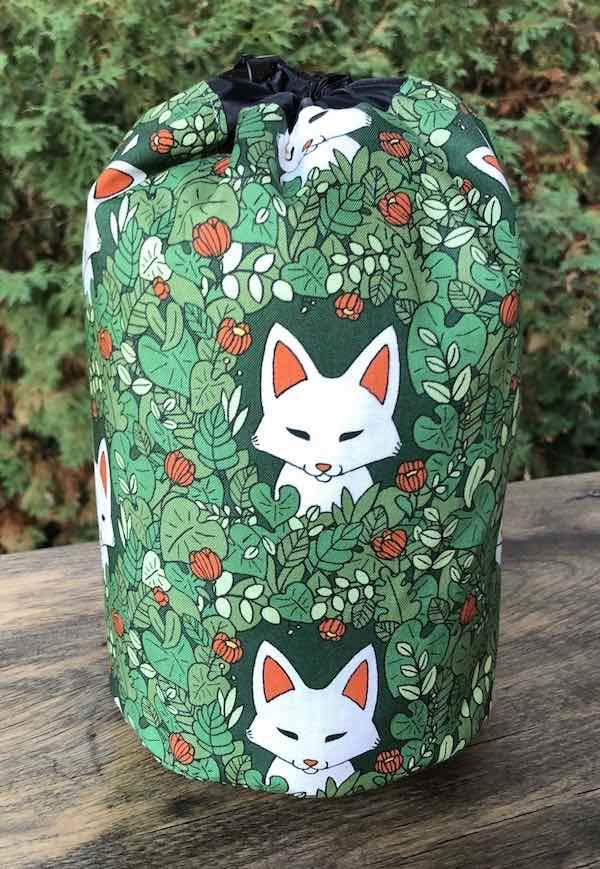 Foxy SueBee Round Drawstring Bag