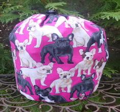 French Bulldog SueBee Round Drawstring Bag