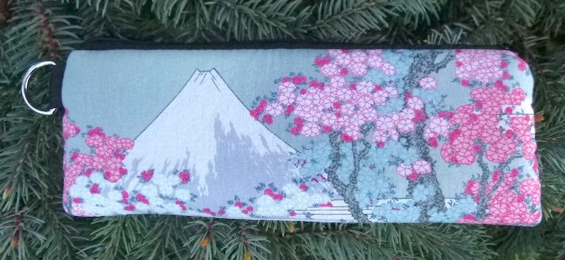 Mt Fuji and Cherry Blossoms Padded Zippered Glasses Case, The Spex
