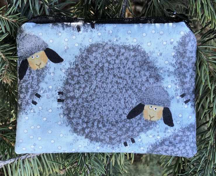 Fuzzy Sheep Coin Purse, The Raven