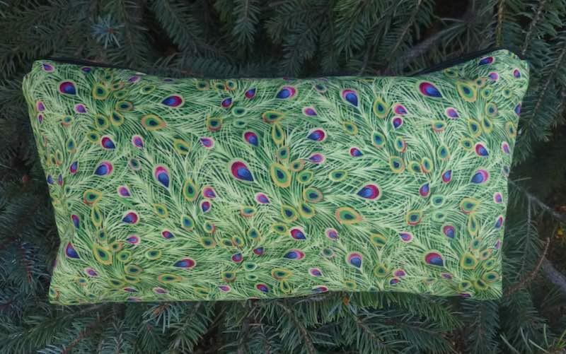 Gilded Peacock Feathers Large Zini Flat Bottom Bag