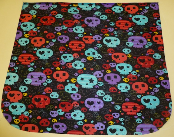 Colorful girly skulls Pick your Size Morphin Messenger Bag Flap