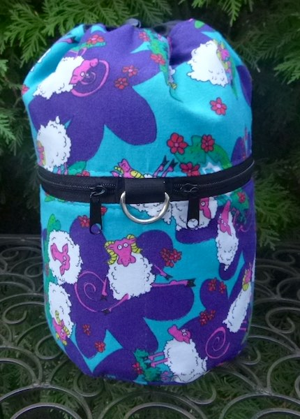 Glow in the Dark Sheep Kipster Knitting Project Bag