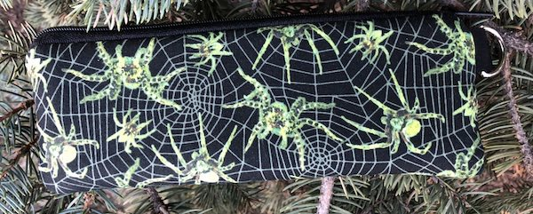 Glow in the Dark Spiders Padded Zippered Glasses Case, The Spex
