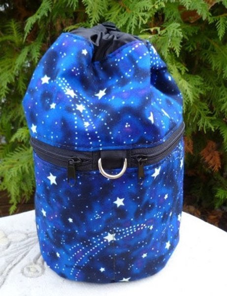 Glow in the dark stars Kipster Knitting Project Bag