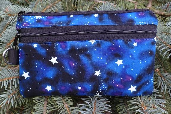 Glow in the dark stars Mini Wallet Purse Organizer, The Sweet Pea