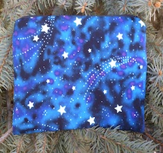 Glow in the Dark Stars zippered bag, The Scooter