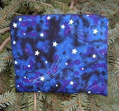 Glow in the dark stars Slide Mahjongg card and coin purse