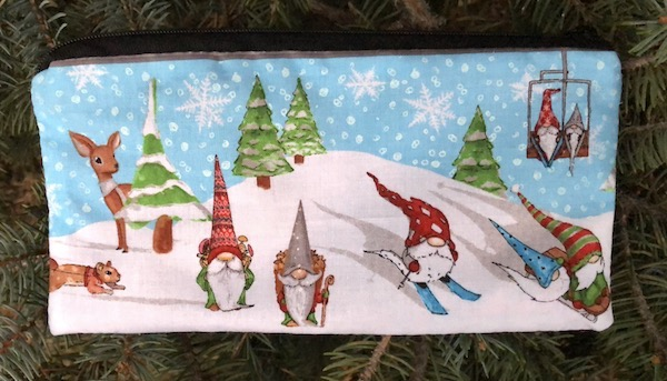Gnoming in the Snow Deep Scribe pen and pencil case