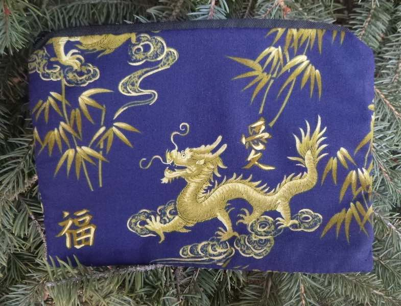 Golden Dragon zippered bag, The Scooter-CLEARANCE