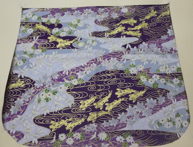 Golden Koi on Purple Pick your Size Morphin Messenger Bag Flap