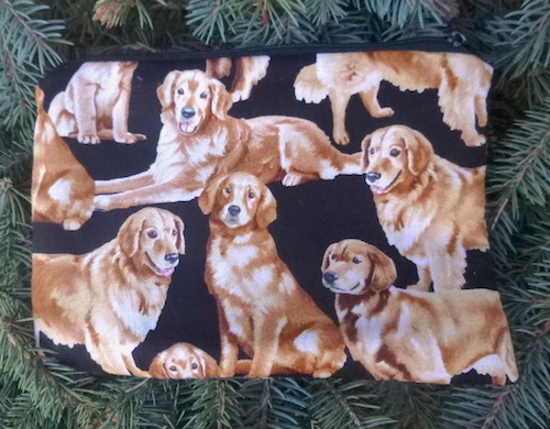Golden Retrievers zippered bag, The Scooter