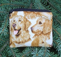Golden Retriever heads Coin Purse, The Raven