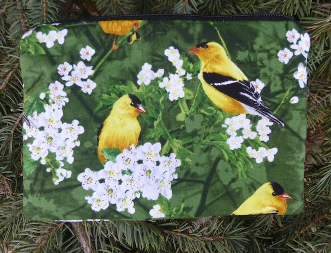 Goldfinch zippered bag, The Scooter