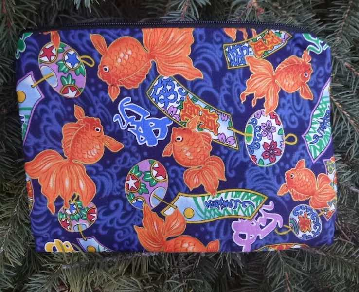 Japanese Goldfish zippered bag, The Scooter