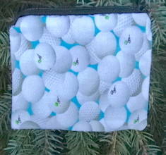 Golf Balls on Blue  Coin Purse, The Raven