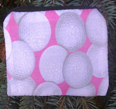Golf Balls on Pink Coin Purse, The Raven