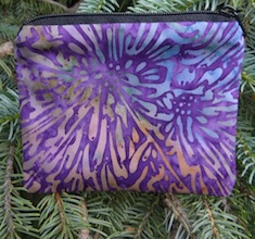 Grape Sunburst Batik Coin Purse, The Raven