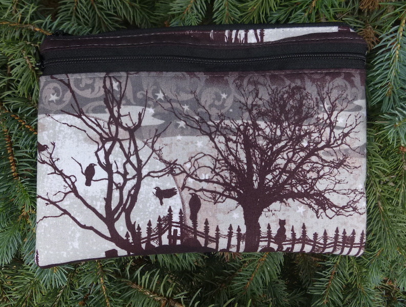 Cats Graveyard Morning Glory convertible clutch wristlet or shoulder bag-CLEARANCE-SECOND