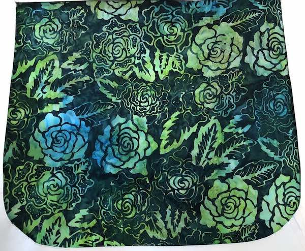 Green Batik Roses Pick your Size Morphin Messenger Bag Flap