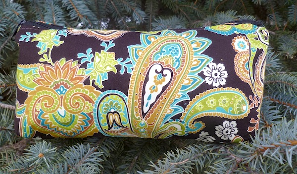Gypsy Paisley flat bottom bag, The Zini-CLEARANCE