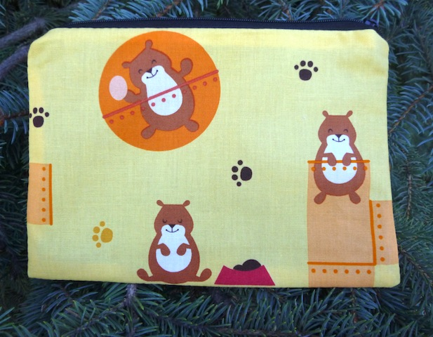 Hamster World zippered bag, The Scooter
