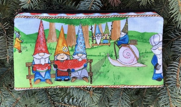 Hanging With My Gnomies Stripe Deep Scribe pen and pencil case