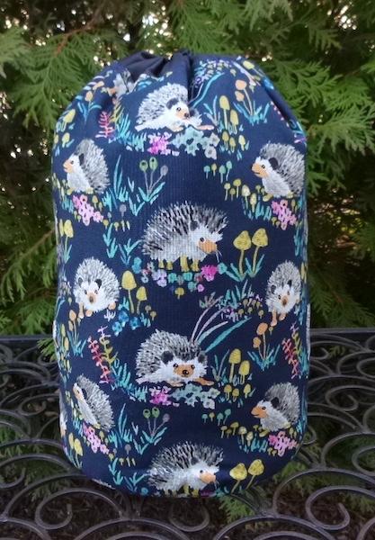 Happy Hedgehogs SueBee Round Drawstring Bag