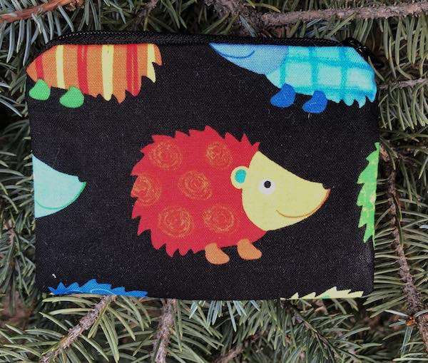 Colorful Hedgies Coin Purse, The Raven