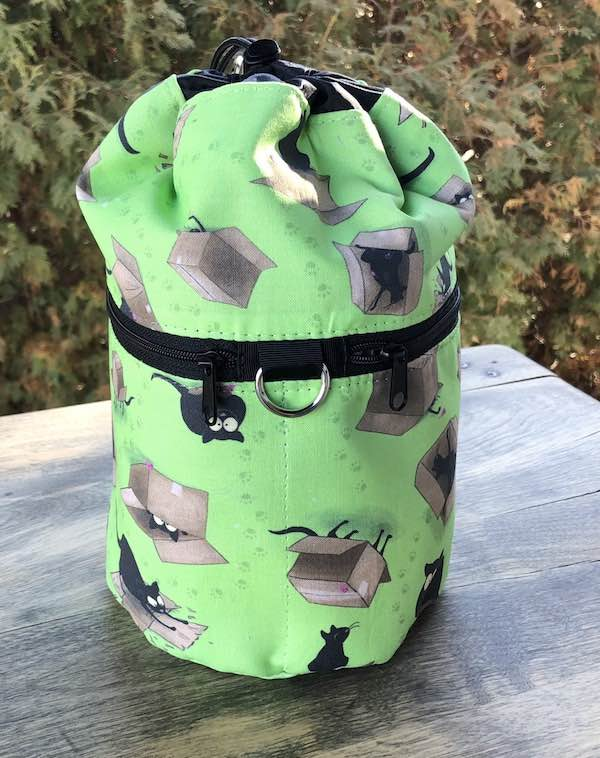 Happy Kitty Boxed Green Kipster Knitting Project Bag