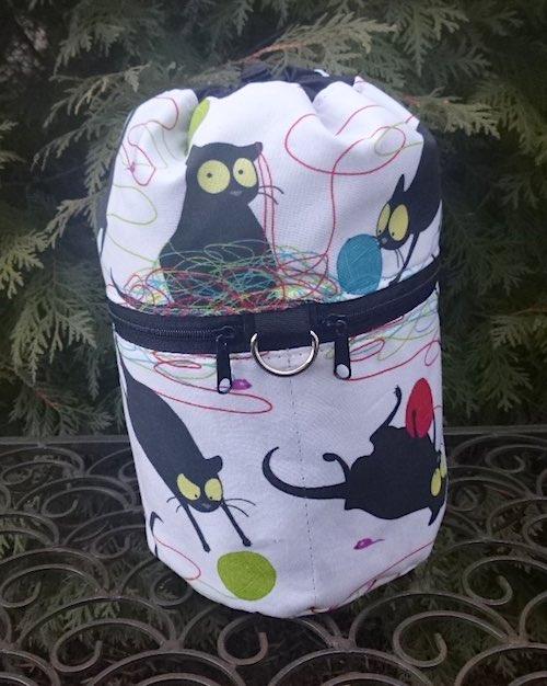 Happy Kitty Kipster Knitting Project Bag