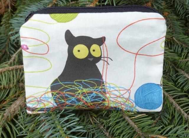 Happy Kitty Raven Coin Purse, The Raven