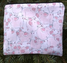 Happy Piggies zippered bag, The Scooter