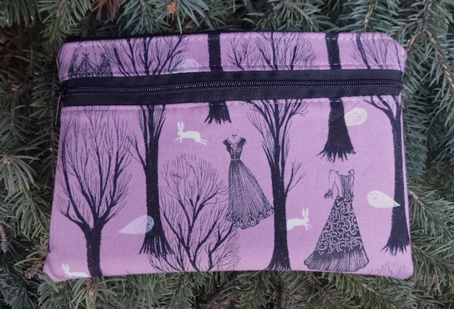 Haunted Forest clutch, smart phone wallet, mini shoulder bag,  iPhone 8 Plus wallet, The Wisteria