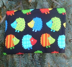 Hedgehogs Zippered pouch for game card decks, The Carder