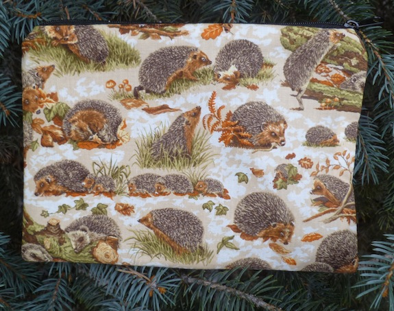 Hedgehogs zippered bag, The Scooter