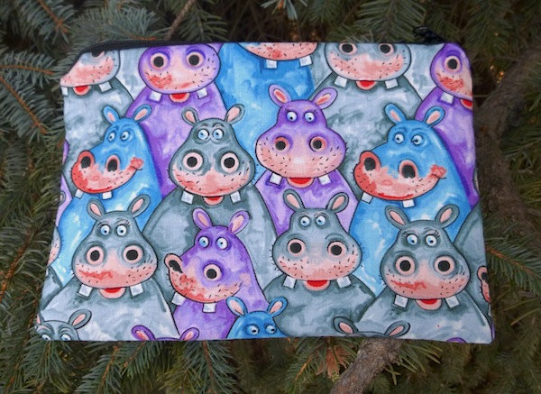 Hippo zippered bag, The Scooter