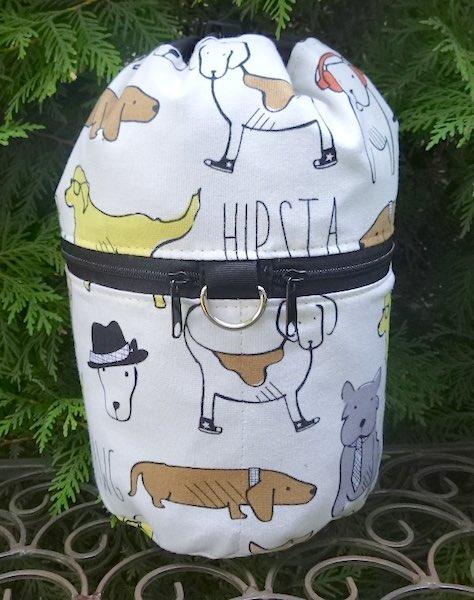 Hipsta Dawgs Kipster Knitting Project Bag