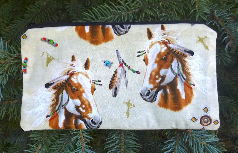 Horses Feathers Deep Scribe pen and pencil case