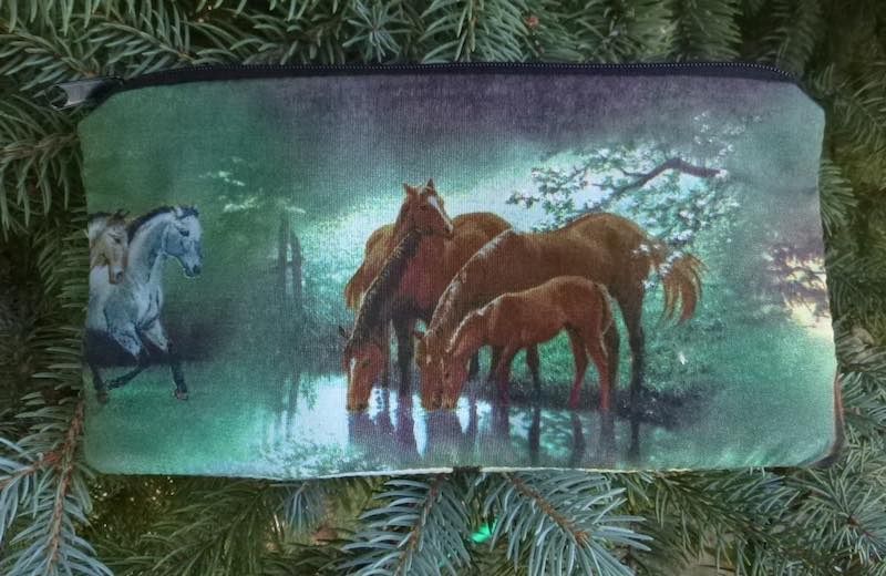 Horses and Water Deep Scribe pen and pencil case