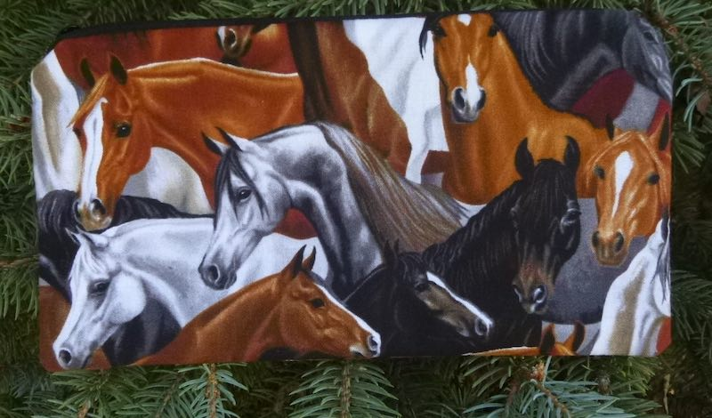 Horses Deep Scribe pen and pencil case