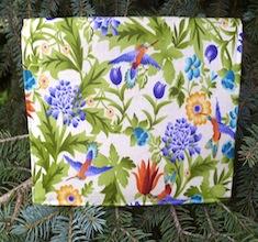 Hummingbird Garden Wallet on a String
