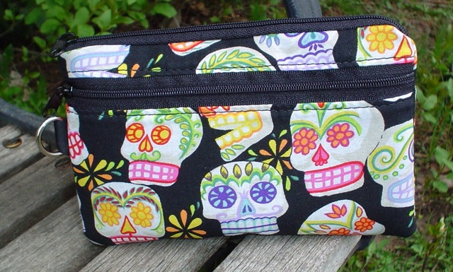 Sugar Skulls Sweet Pea Mini Wallet Purse Organizer