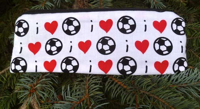 I love Soccer pen and pencil case, The Scribe