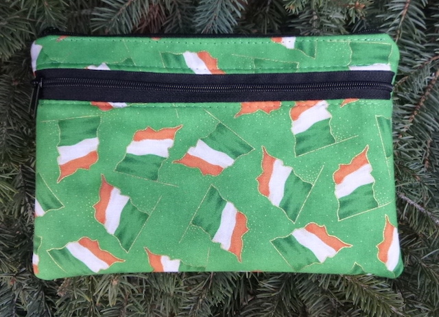Irish Flags clutch, smart phone wallet, mini shoulder bag,  iPhone 8 Plus wallet, The Wisteria